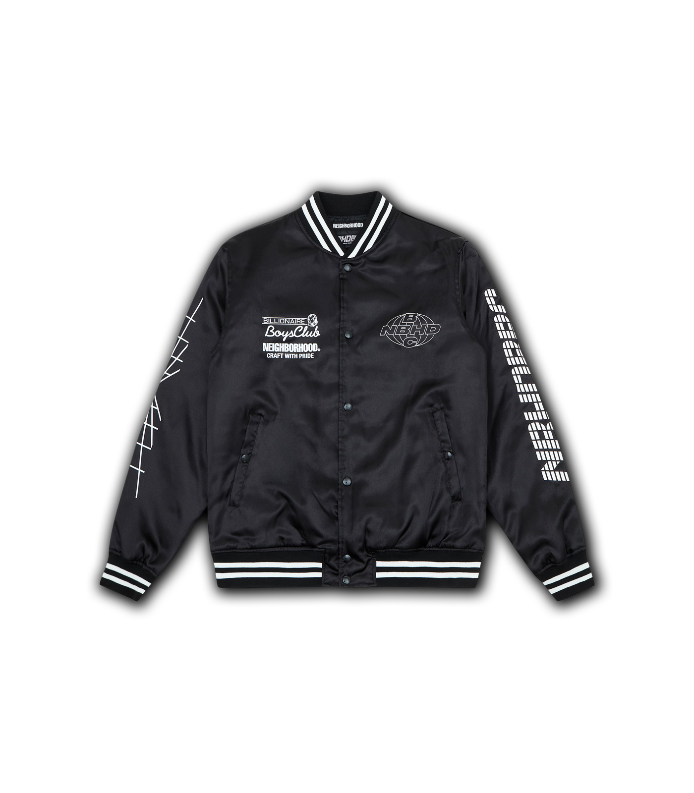 SATIN BB JACKET - BLACK