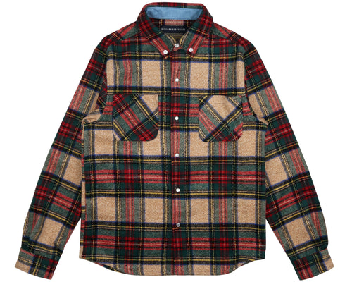 CHECK FLANNEL SHIRT - GREEN