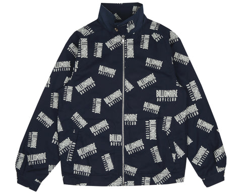 Billionaire Boys Club Pre-Spring '18 REPEAT PRINT HARRINGTON JACKET - NAVY