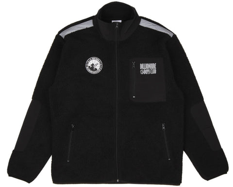 Billionaire Boys Club SHERPA FLEECE ZIP-THROUGH - BLACK