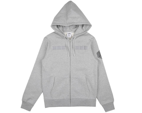 Billionaire Boys Club Spring '17 FLIGHT PATCH ZIP-THROUGH HOODIE - HEATHER GREY
