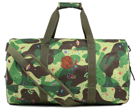 Billionaire Boys Club Pre-Fall '18 SPACE CAMO DUFFLE BAG - OLIVE