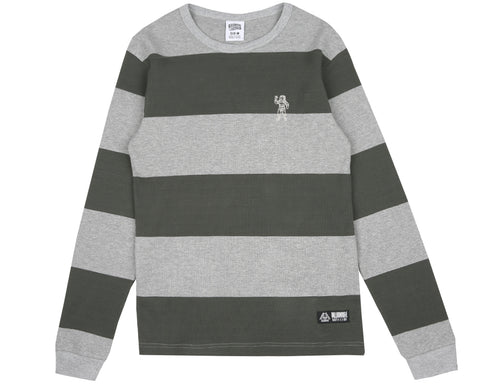 Billionaire Boys Club Pre-Spring '18 STRIPEY THERMAL L/S T-SHIRT - HEATHER GREY