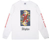 Billionaire Boys Club Spring '18 ALPHA OMEGA L/S T-SHIRT - WHITE