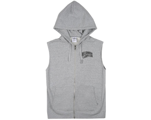Billionaire Boys Club Pre-Fall '17 SMALL ARCH LOGO SLEEVELESS ZIP THROUGH HOOD - HEATHER GREY
