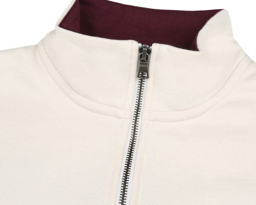 TRANQUILITY BASE 1/4 ZIP SWEATSHIRT - BONE