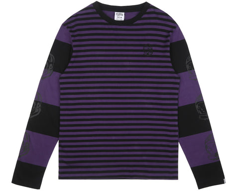 Billionaire Boys Club Fall '17 STRIPE L/S T-SHIRT - BLACK