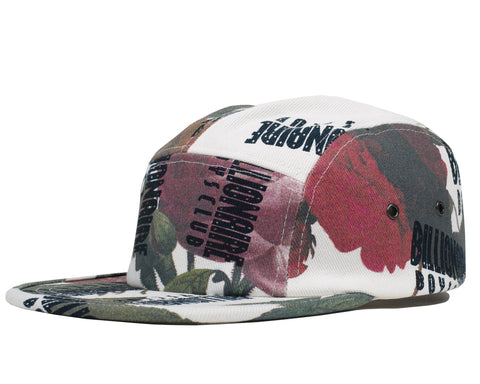 Billionaire Boys Club Spring '18 REPEAT PRINT 5 PANEL CAP - FLORAL