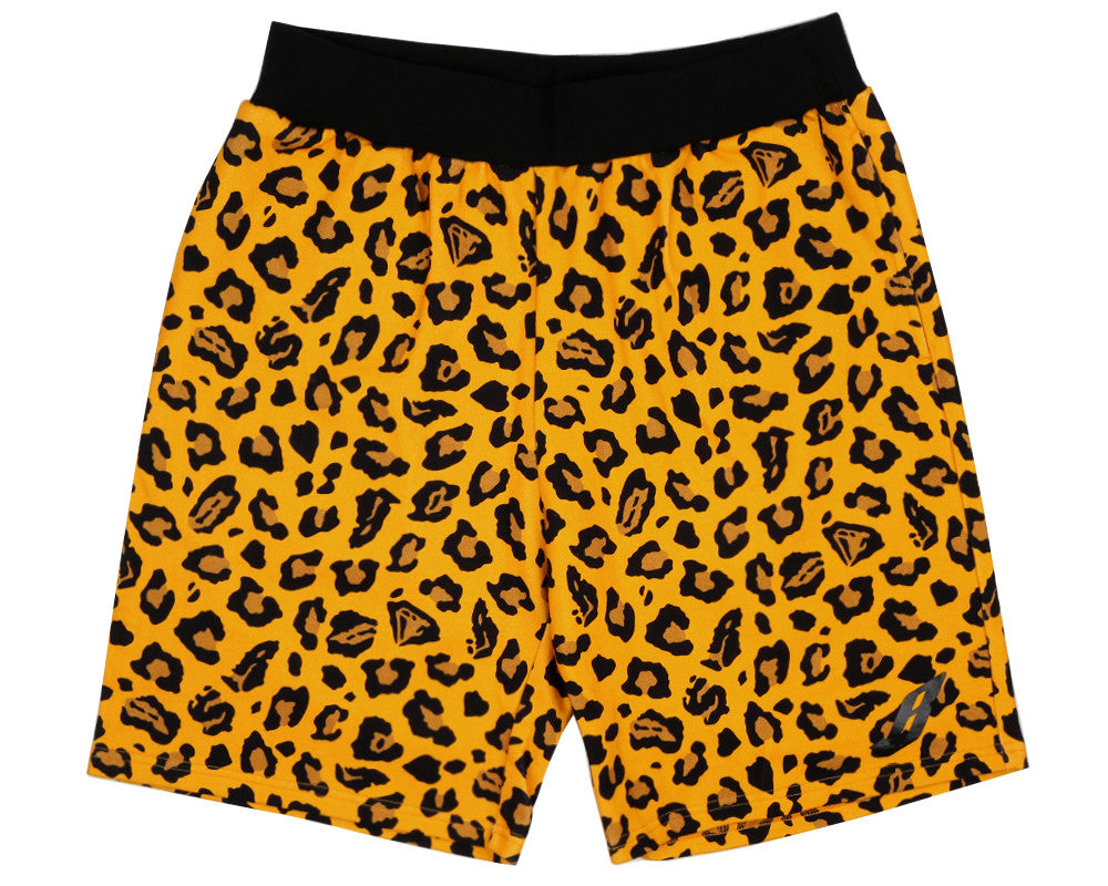 Billionaire Boys Club Pre-Fall '17 LEOPARD ALL OVER SHORTS - YELLOW