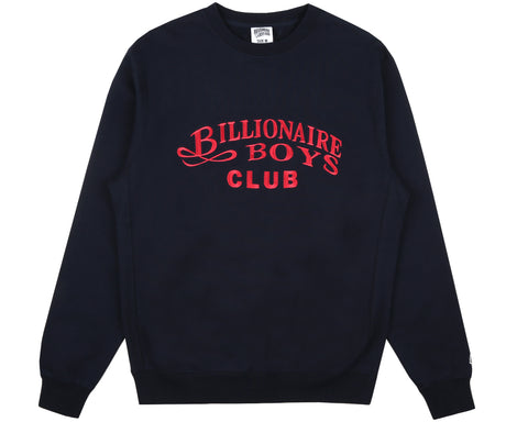 Billionaire Boys Club Fall '18 EMBROIDERED CREWNECK - NAVY