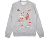BBCICECREAM SPACE HUNT ICONS CREWNECK - HEATHER GREY