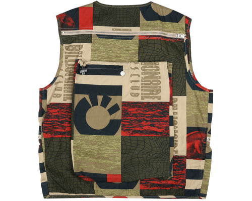 FRESH WATER PRINT COTTON VEST - TAN