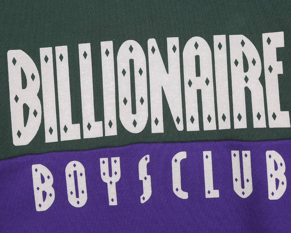 Billionaire Boys Club Fall '17 REFLECTIVE CUT & SEW CREWNECK - GREEN/PURPLE