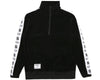 Billionaire Boys Club Japan Spring '19 VELOUR 1/2 ZIP TRACK TOP - BLACK