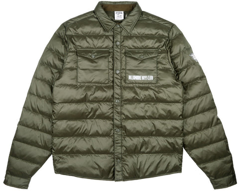 Billionaire Boys Club Fall '17 DOWN QUILTED OVERSHIRT - OLIVE