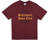 Billionaire Boys Club Fall '18 COLLEGE FLOCK PRINT T-SHIRT - BURGUNDY