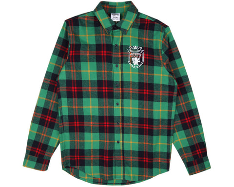 BBCICECREAM CREST CHECK SHIRT - GREEN CHECK