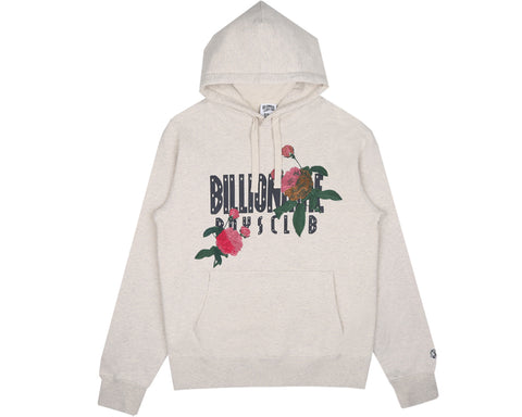 Billionaire Boys Club Spring '18 EMBROIDERED FLORAL POPOVER HOOD - OAT MARL
