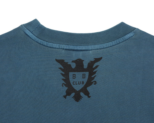 OVERDYED STRAIGHT LOGO T-SHIRT - PETROL