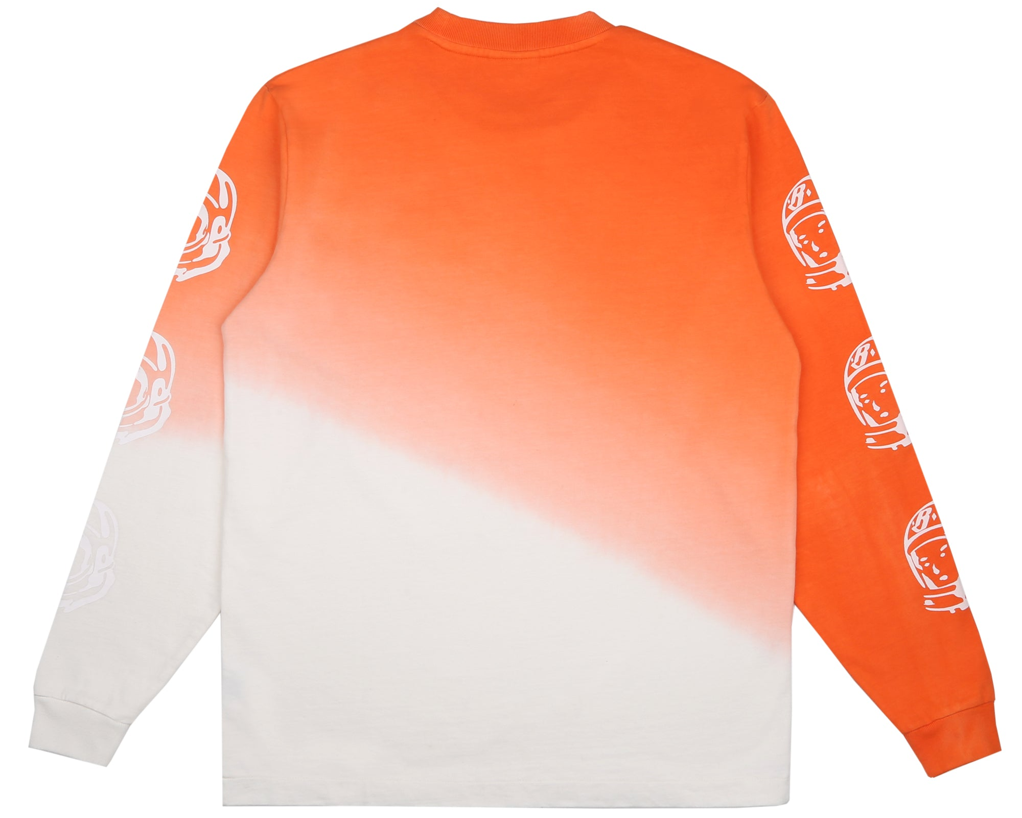 BLEACHED L/S T-SHIRT - CORAL