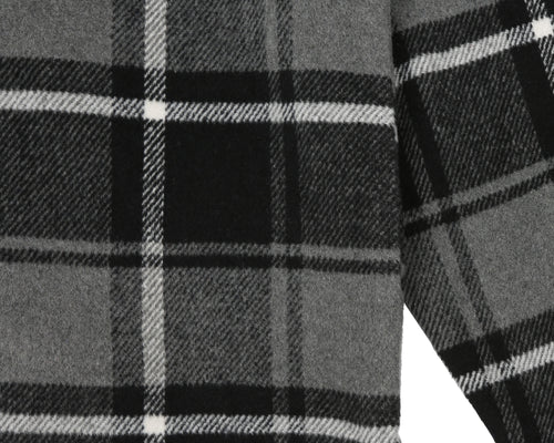 HEAVY CHECK SHIRT - BLACK