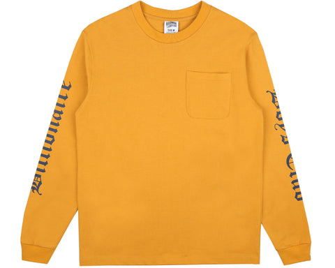 Billionaire Boys Club Fall '18 COLLEGE L/S POCKET T-SHIRT - YELLOW