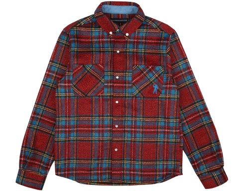 Billionaire Boys Club Spring '19 CHECK FLANNEL SHIRT - BLUE