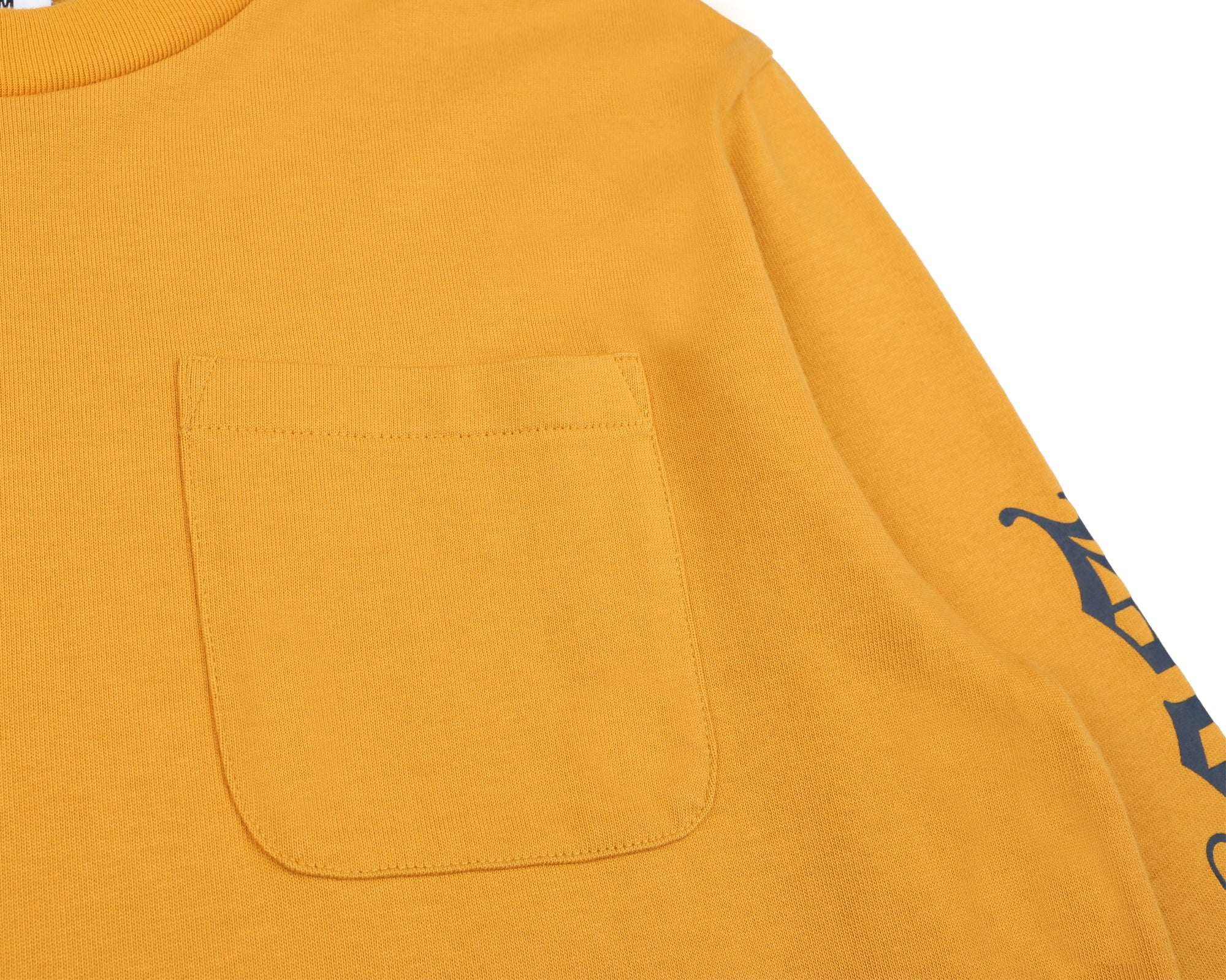 COLLEGE L/S POCKET T-SHIRT - YELLOW