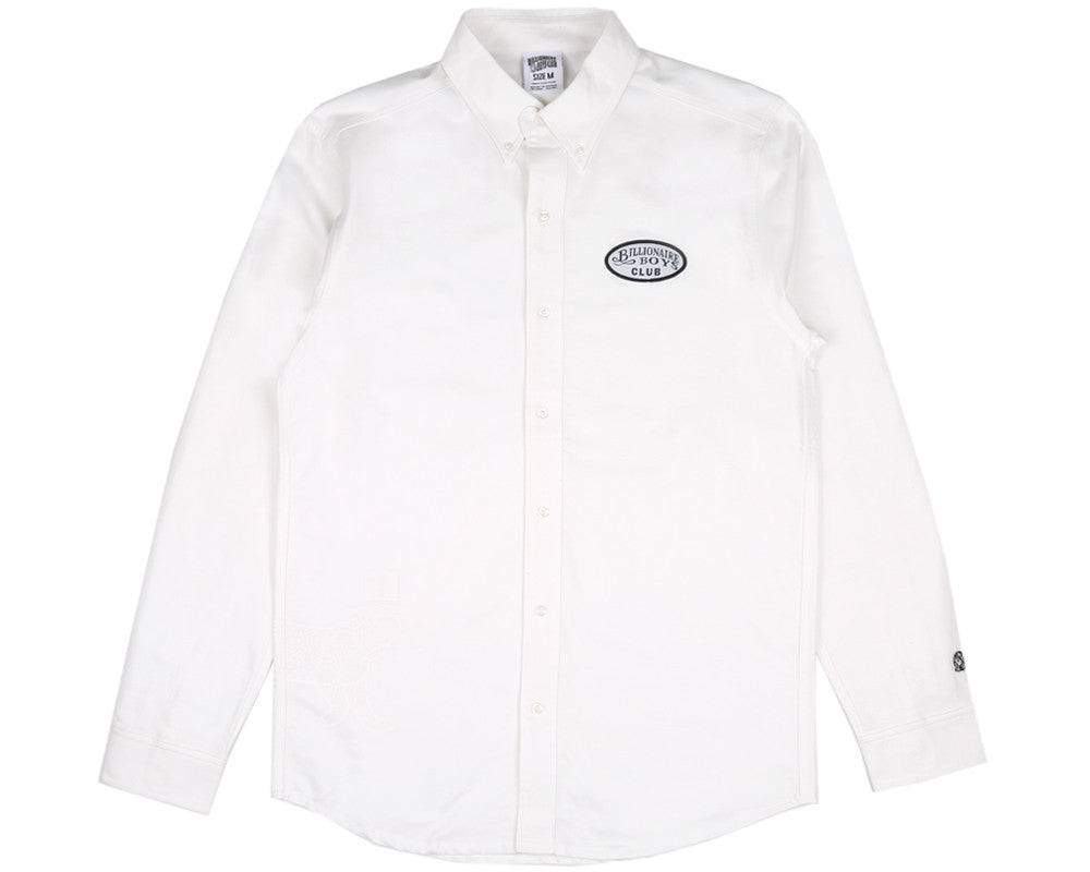 BBCICECREAM LEOPARD OXFORD SHIRT - WHITE