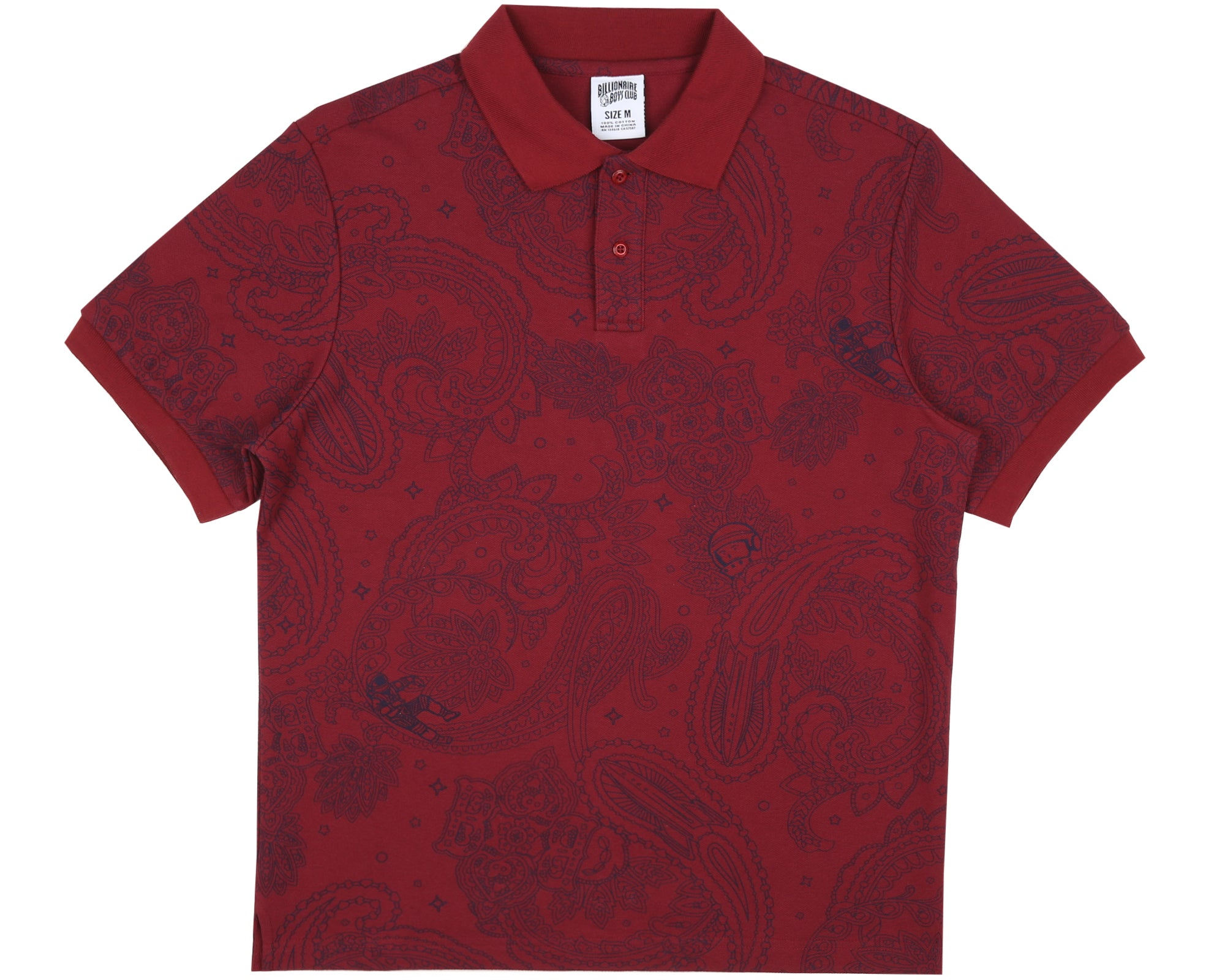 PAISLEY POLO SHIRT - RED