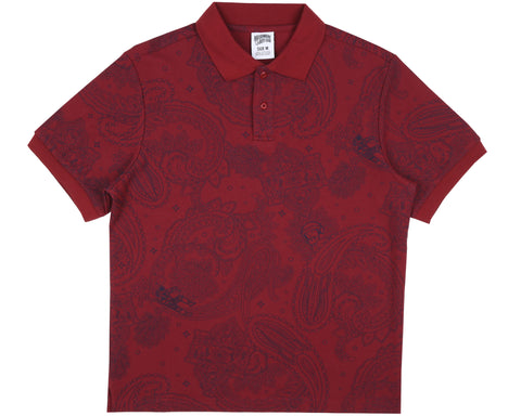 Billionaire Boys Club Fall '18 PAISLEY POLO SHIRT - RED