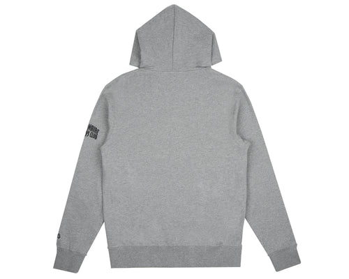 MANTRA EMBROIDERED POPOVER HOOD - HEATHER GREY