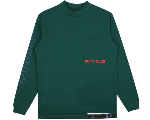 Billionaire Boys Club Spring '19 HORSEPOWER CUT & SEW L/S T-SHIRT - GREEN
