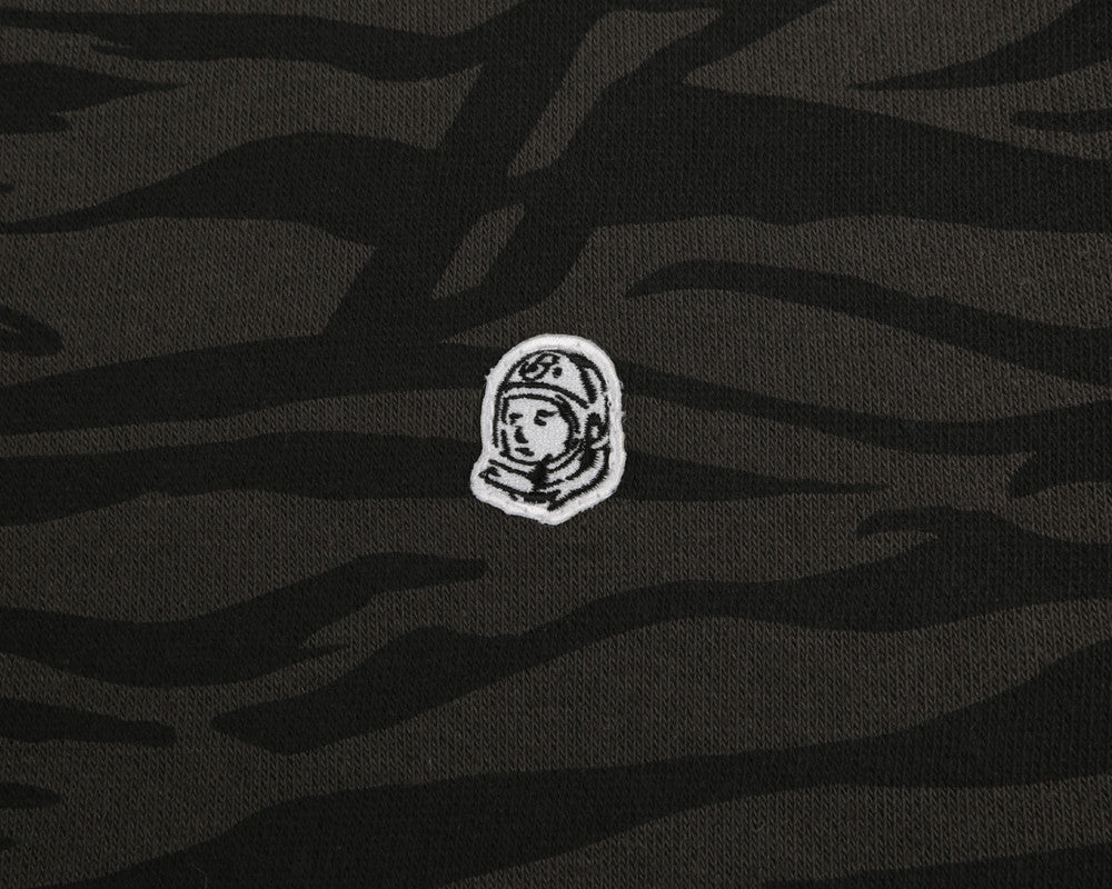 Billionaire Boys Club Spring '17 ZEBRA CAMO ALL-OVER PRINT CREWNECK - CHARCOAL