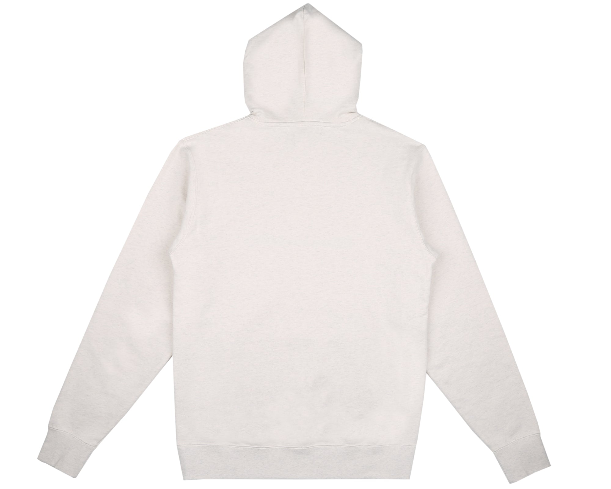 EMBROIDERED POPOVER HOOD - WHITE MARL