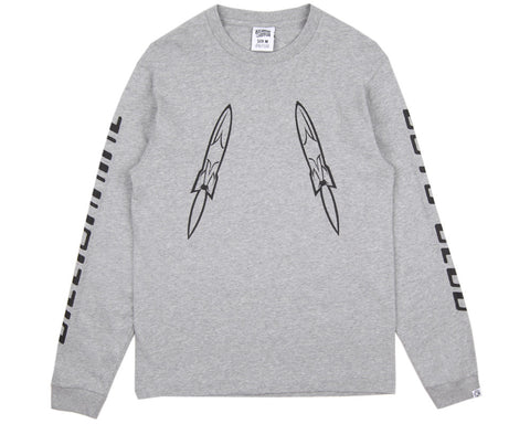 BBCICECREAM DIGITAL L/S T-SHIRT - GREY/BLACK
