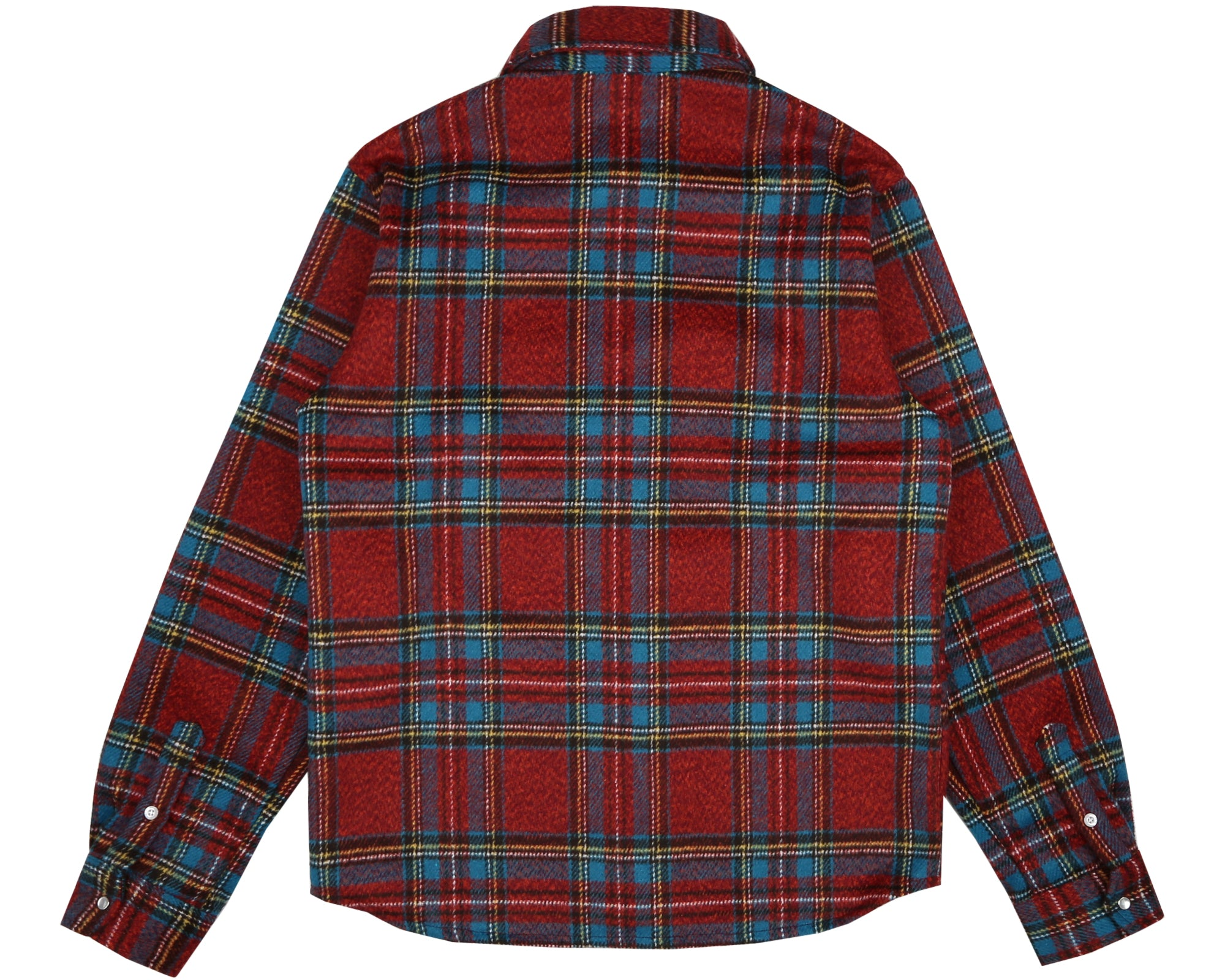 CHECK FLANNEL SHIRT - BLUE