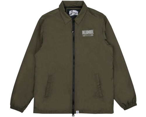 ZIP COACH JACKET - OLIVE