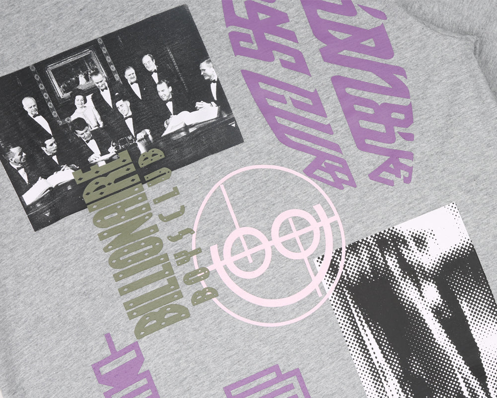 Billionaire Boys Club Pre-Spring '18 CRASH COLLAGE T-SHIRT - HEATHER GREY