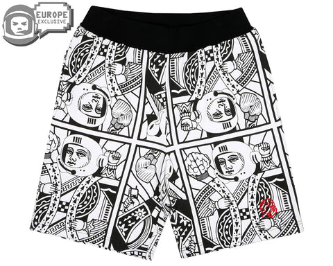 Billionaire Boys Club Spring '18 ALPHA OMEGA SPECIAL SHORTS - WHITE/BLACK