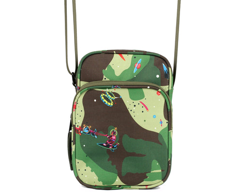 SPACE CAMO SHOULDER BAG - OLIVE