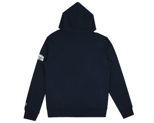 MANTRA EMBROIDERED POPOVER HOOD - NAVY