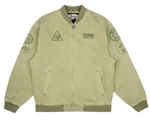 Billionaire Boys Club Fall '17 OVERDYE COTTON BOMBER JACKET - OLIVE