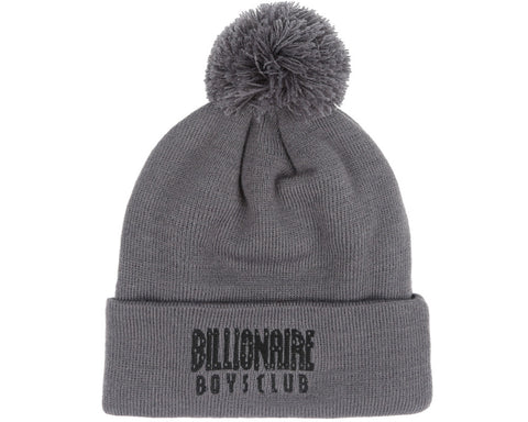 Billionaire Boys Club Fall '17 LOGO RIBBED KNITTED BEANIE GREY
