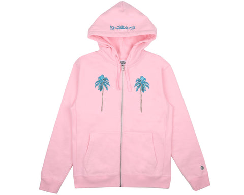 Billionaire Boys Club Pre-Fall '17 PALM TREE ZIP THROUGH HOOD - PINK