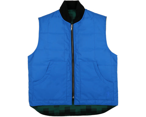 Billionaire Boys Club Spring '19 REVERSIBLE PADDED WORK VEST - BLUE