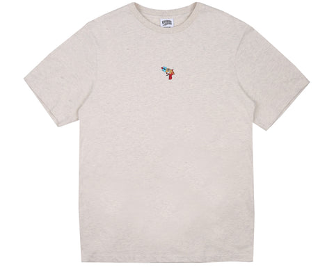Billionaire Boys Club Pre-Spring '18 RAYGUN EMBROIDERED T-SHIRT - OAT MARL