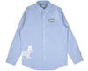 BBCICECREAM LEOPARD OXFORD SHIRT - LIGHT BLUE