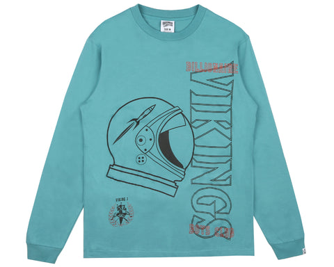 Billionaire Boys Club Fall '18 POINT OF NO RETURN L/S T-SHIRT - TEAL