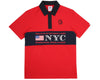 Billionaire Boys Club Pre-Spring '17 INTERNATIONAL ALLIANCE S/S POLO SHIRT - RED